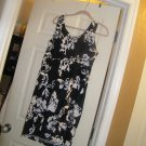 NEW TWO HEARTS SLEEVELESSMATERNITY DRESS BLACK FLORAL L