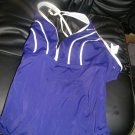 NEW Nike Solid Navy Blue/White 1Pc One-Piece Maillot Racerback 14
