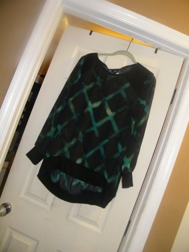 NEW WOMAN'S MOSSIMO LS BANDED PULLOVER SHIRT L
