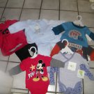 NEW INFANT BOY NEWBORN ONSIES 2 PC OUTFITS SHIRTS DISNEY STARTING OVER