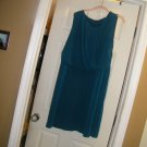 NEW GEORGE SLEEVELESS DRAPE FRONT ROYAL BLUE DRESS XL-1XL