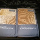 NEW 2 KEVIN O'BRIEN CIRRUS RAP QUILTED STANDARD  SHAMS  BROWN CREAM