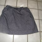 NEW ANN TAYLOR LOFT GRAY DOT LINED A-LINE SKIRT M