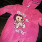 NEW BABY BOOP INFANT GIRL FLEECE SNOWSUIT PINK 6-9MO