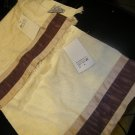 NEW 2 AVANTI BEIGE PLUM FINGERTIP TOWELS