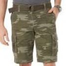 NEW Roebuck & Co. Men's Belted Cargo Shorts - Camouflage 40