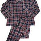 NEW Hanes Men's Woven Plain-Weave Pajama Set NAVY WHOTE 2X