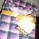 NEW WOMEN'S JOE BOXER 2 PC WARMWEAR LS LONG PANT SET S PINK BLACK PLAID