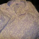 NEW LAURA SCOTT WOVEN NOTCH COLLAR FLORAL PAJAMAS BEIGE WHITE XL