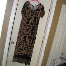 NEW WHITE MARK\\\\\WOMAN'S PLUS MAXI DRESS PRINTED BLACK KHAKI 3X