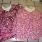 NEW 2 LAURA SCOTT MOCK NECK KNIT  TOPS RED AND BURGUNDY FLORAL1X