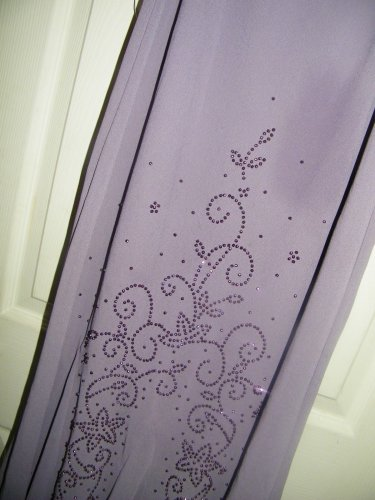 NEW KATHY ROBERTS LONG MERMAID PURPLE SEQUIN SLEEVELESS DRESS 10