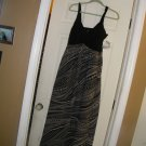 NEW AMANDA LANE SLEEVELESS MAXI DDRESS 6 BLACK WHITE