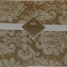 NEW Home Trends Gold Brocade Placemat Set of 4 Royal Scroll Fabric Placemats