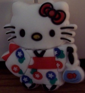 HELLO KITTY KOMONO SHOE CHARMS FOR ALL CLOGS AND CROCS