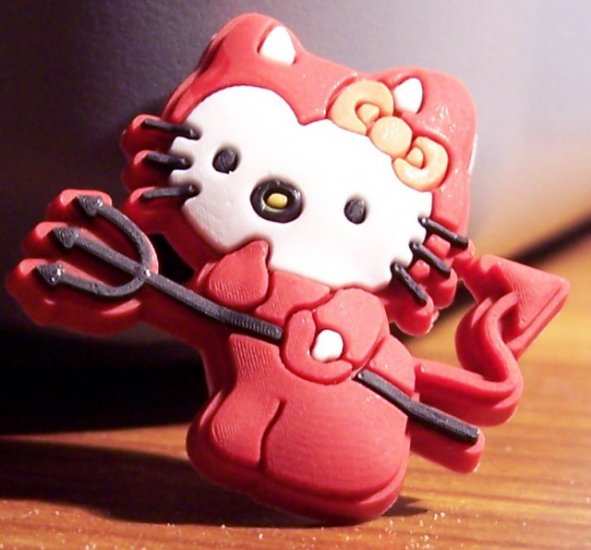 HELLO KITTY DEVIL SHOE CHARM (LIKE JIBBITZ)FOR ALL CLOGS CROCS