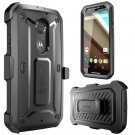 Motorola Moto X SUPCASE (2nd Gen.) [Heavy Duty Rugged Case] Belt Clip Black