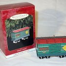 Hallmark 1997 Yuletide Central Toys Car #4 Train Ornament Pressed Tin MIB