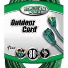 Coleman Cable 80' Foot 16 Gauge/3 Vinyl Landscape Outdoor Extension Cord