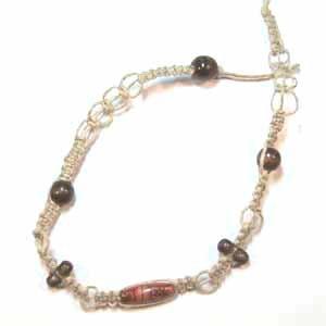 Hemp Choker Necklace Handmade (JE68)