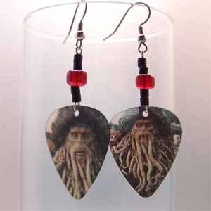 Davey Jones Motion Guitar Pick Earrings Handmade (JE239)