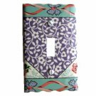 Lavender with White Flowers Switch Plate Cover (LS162E)