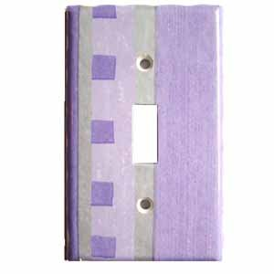 Lavender Light Switch Plate Cover (LS160E)