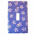 White Flowered Light Switch Plate Cover (LS177E)