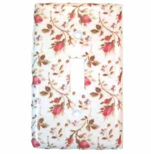 Pink Rose Buds with Stems Light Switch Plate Cover (LS180E)