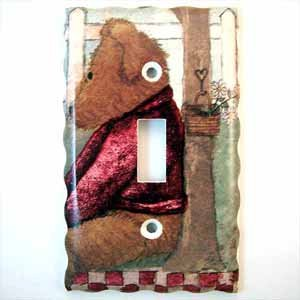 Fuzzy Bear Light Switch Plate Cover (LS215E)