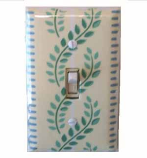 Green Leaves Switch Plate Cover (LS161E)