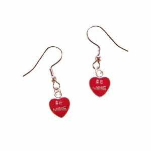 Be Mine Heart Earrings Handmade (JE334)
