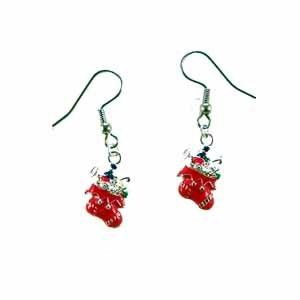 Christmas Stocking Earrings Handmade (JE335)