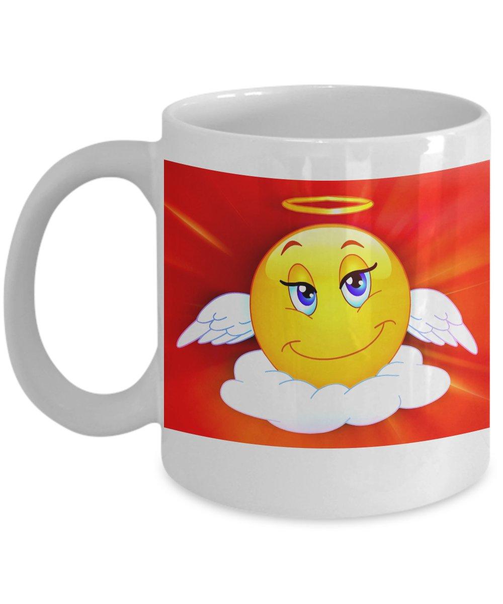 Angel Emoji - Funny Coffee Mug - FREE Shipping!
