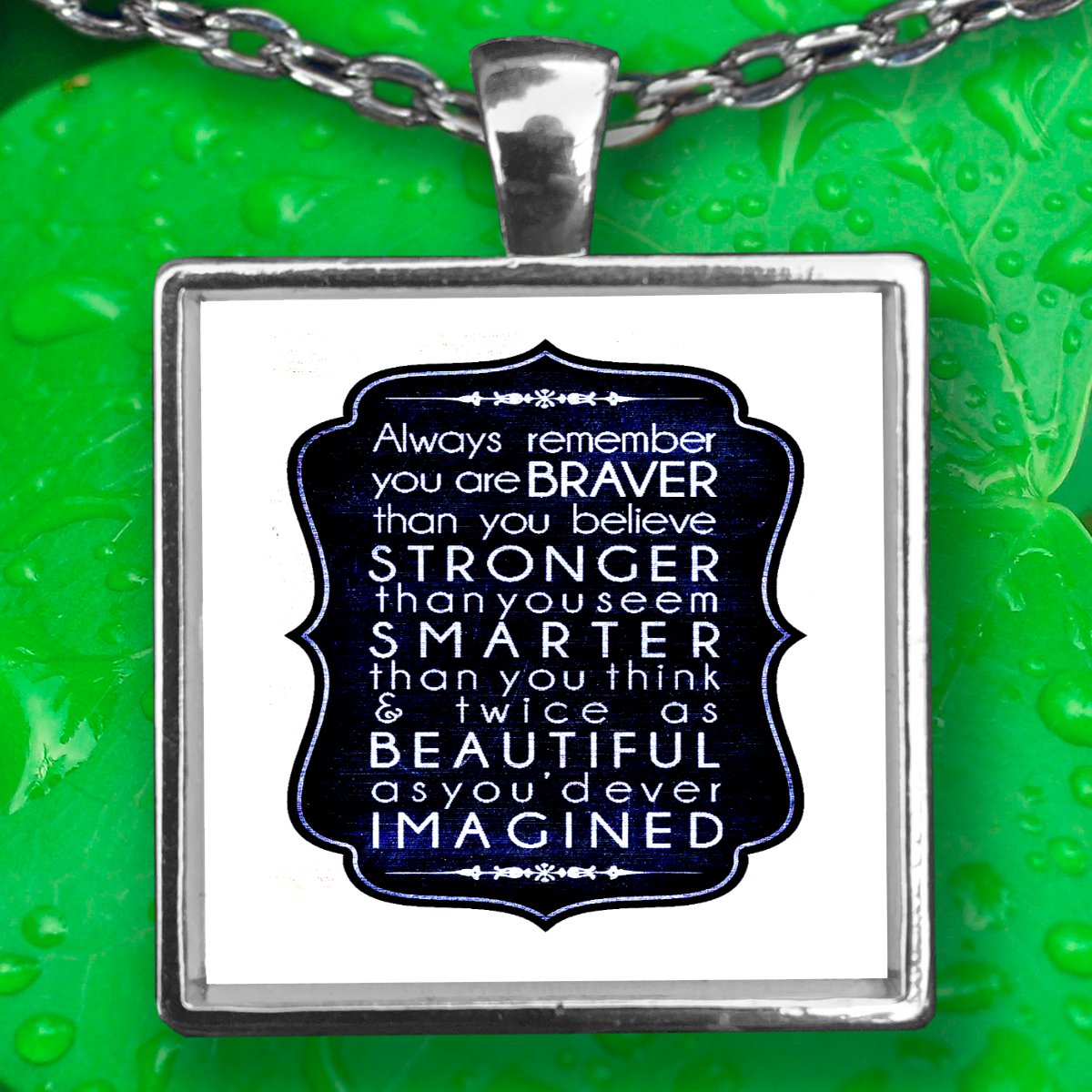 Faith Pendant Necklace - Silver Plated - FREE Shipping!