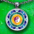 Ying-Yang Mandala Pendant Necklace - Silver Plated - FREE Shipping!