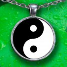 Ying-Yang Pendant Necklace - Silver Plated - FREE Shipping!