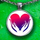 Love Pendant Necklace - Silver Plated - FREE Shipping!