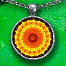 Kaleidoscope Mandala - Pendant Necklace - Silver Plated