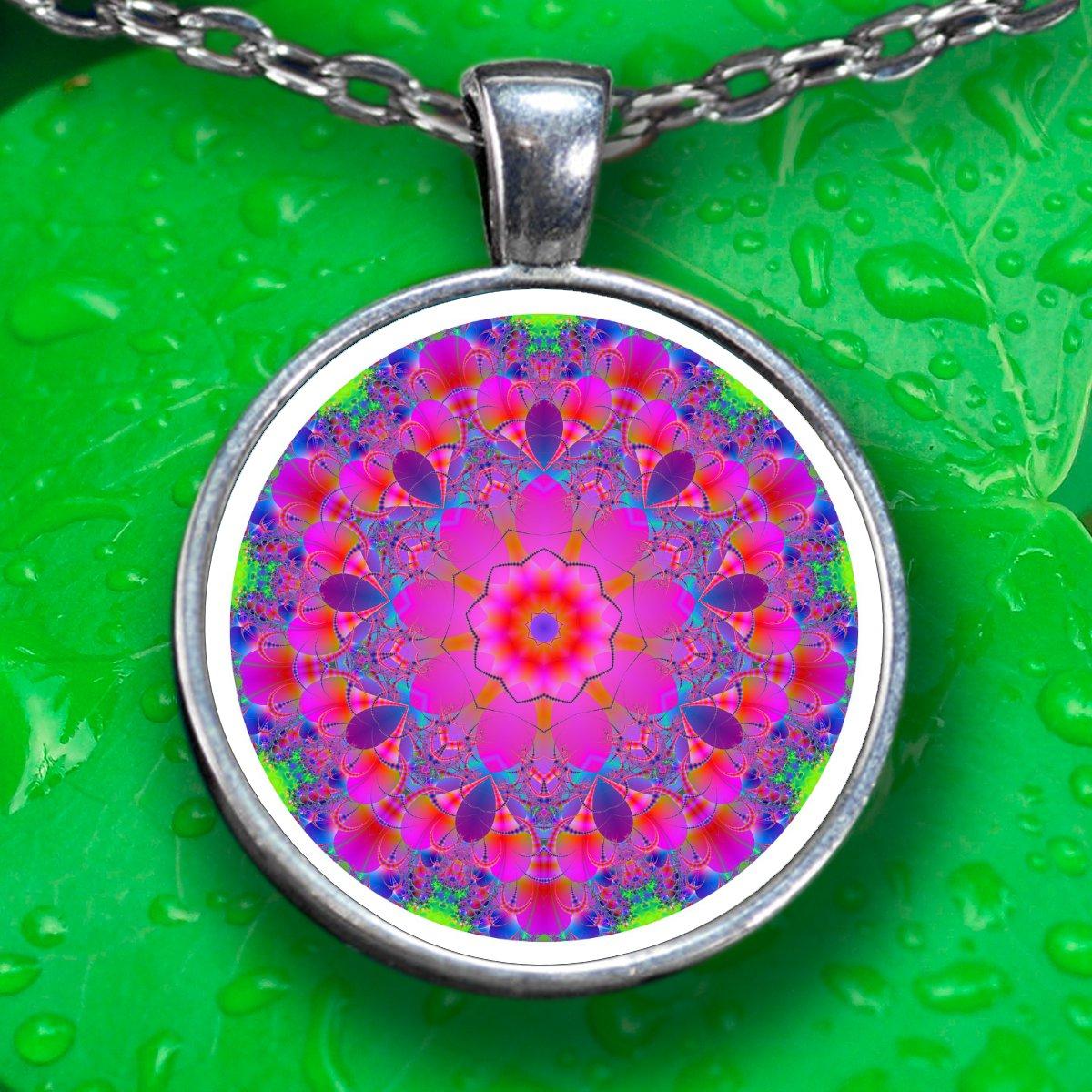 Mandala Pendant Necklace - Silver Plated - FREE Shipping!