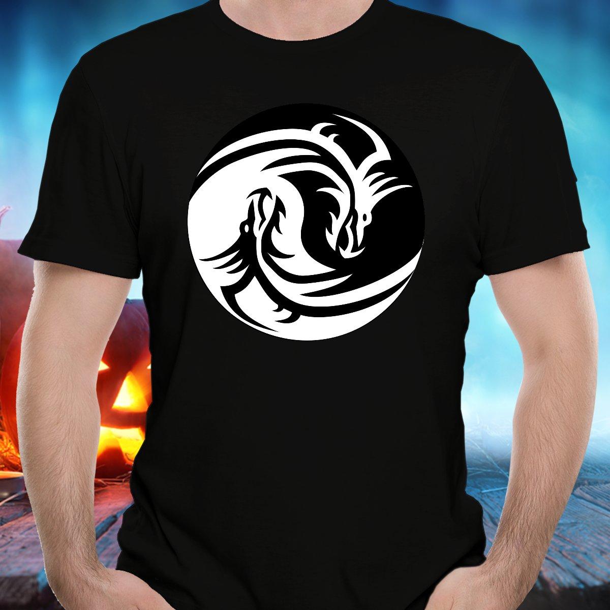 Ying-Yang Dragon - T-Shirt - FREE Shipping!