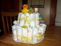 Themed 2 Tier Diaper Cake