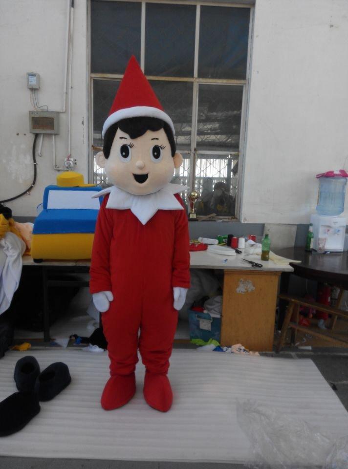 Cosplaydiy Unisex Mascot Costume Elf On The Shelf Mascot