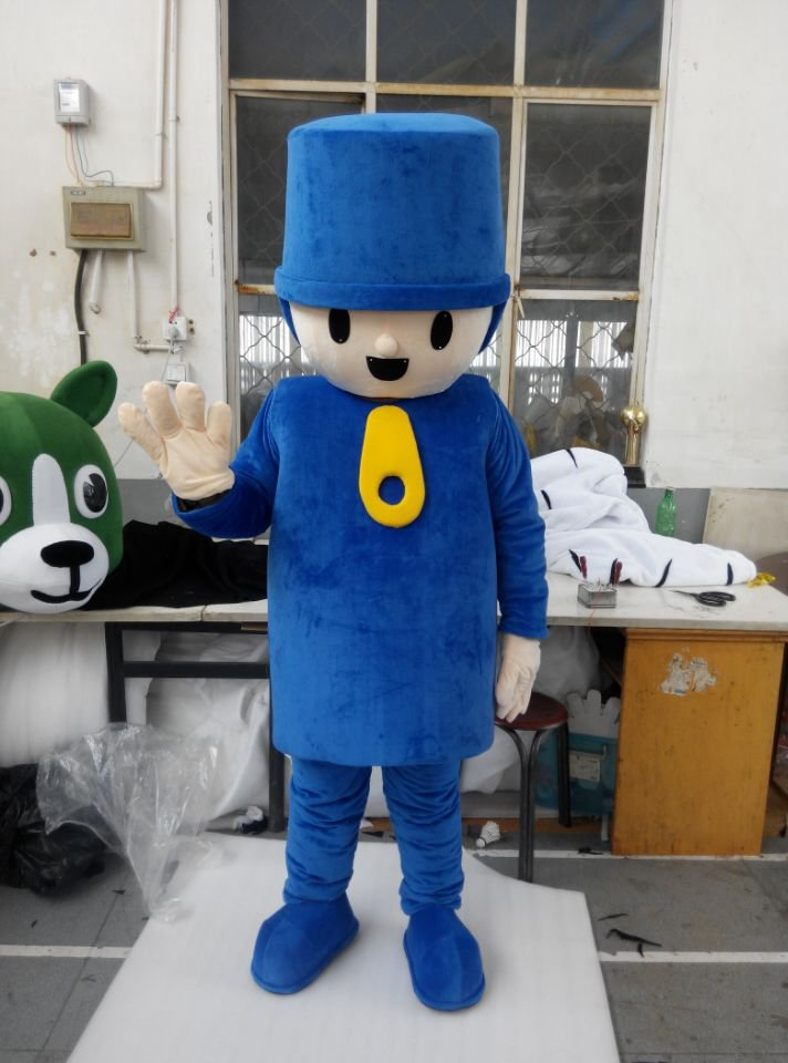 CosplayDiy Unisex Mascot Costume Pocoyo Mascot Costume Cosplay For Party