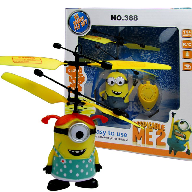 Despicable Me Minions Toys Aircraft Model Remote Control Helicopter