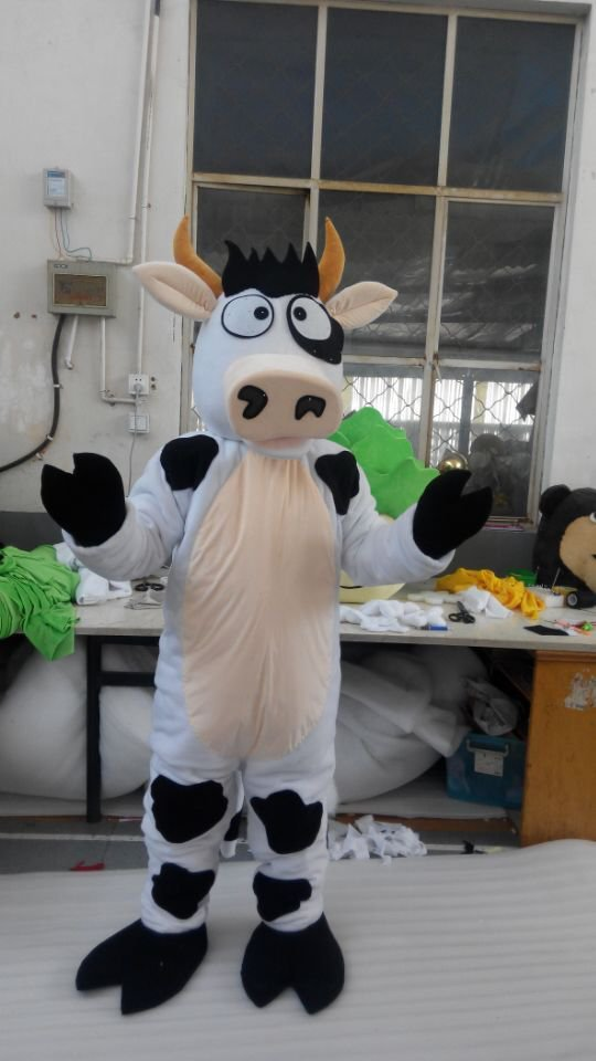 CosplayDiy Unisex Mascot Costume Cow Plush Mascot Costume Cosplay For Party