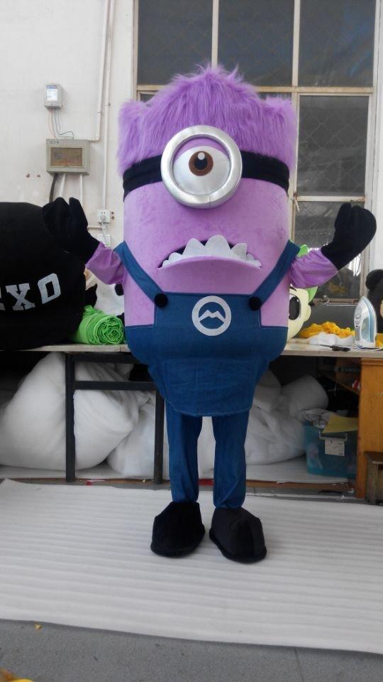 CosplayDiy Unisex Mascot Costume Despicable Me Purple Minion Mascot Costume For Party