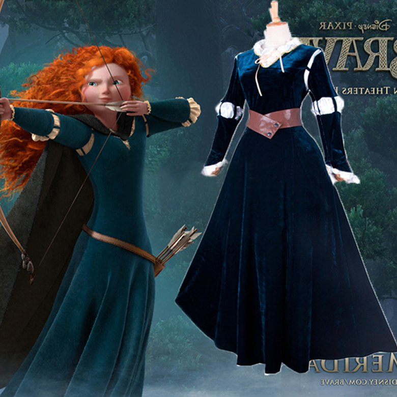 Cosplaydiy Women's Medieval Dress Brave Merida Dress Costume Cosplay For Party