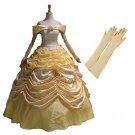 CosplayDiy Women's Medieval Dress Deluxe Beauty and the Beast Belle Princess Belle Dress Cosplay