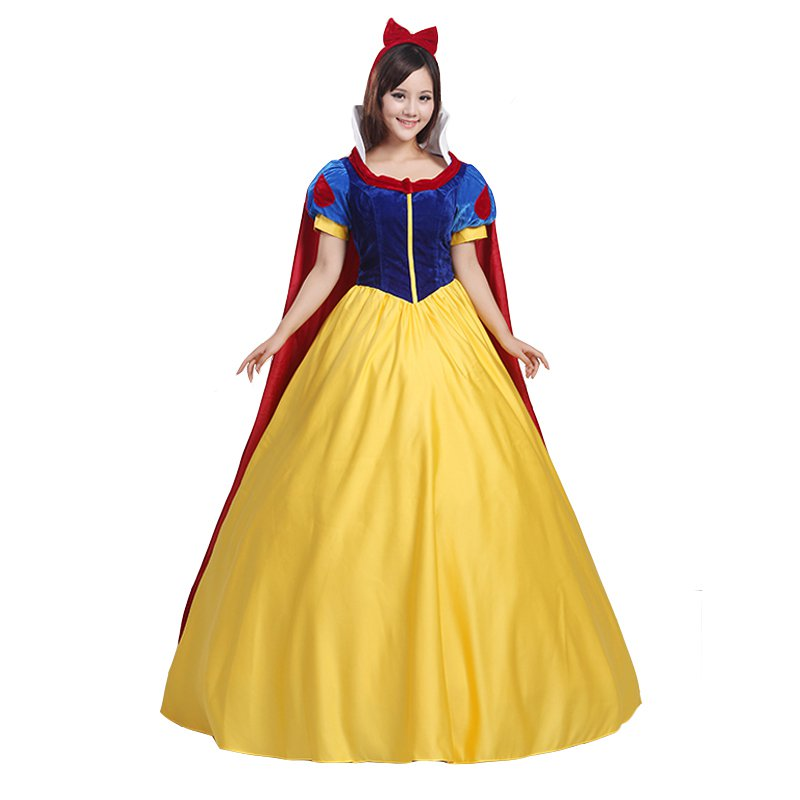 Adult S Dress Snow White Dress With Cape Halloween Costume